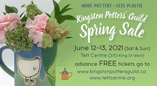 The Kingston Potters' Guild Spring Sale at the Tett Centre on June 12 & 13, 2021
