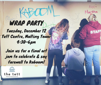 Final art jam with Kaboom Youth