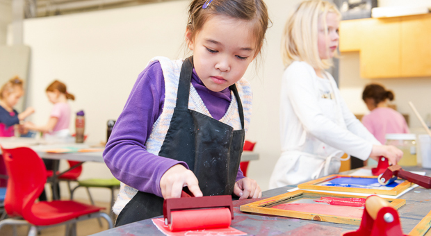 Artmaking is encouraged in the Activity Room