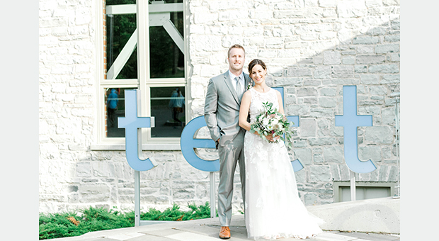 A wedding at the Tett Centre in Kingston, Ontario