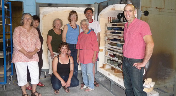 A group from the Kingston Potters' Guild