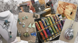 various jewelry, stones and colourful objects