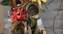 A photo of Rhonda Evans Spring Twig Wreath workshop at the Tett Centre