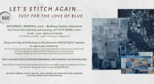 Beth Garner's Let's Stitch Again workshop at the Tett Centre on March 6, 2021