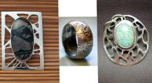 Pierced Silver,Bezel Set Stone, Simple Band Ring