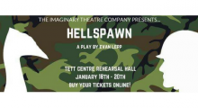 Image of show poster with silhouette of man and bird